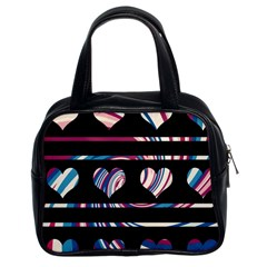 Colorful Harts Pattern Classic Handbags (2 Sides) by Valentinaart