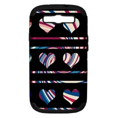 Colorful Harts Pattern Samsung Galaxy S Iii Hardshell Case (pc+silicone) by Valentinaart