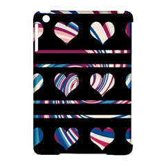 Colorful Harts Pattern Apple Ipad Mini Hardshell Case (compatible With Smart Cover) by Valentinaart