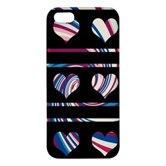 Colorful Harts Pattern Iphone 5s/ Se Premium Hardshell Case by Valentinaart