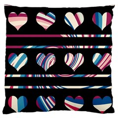 Colorful Harts Pattern Large Flano Cushion Case (two Sides) by Valentinaart