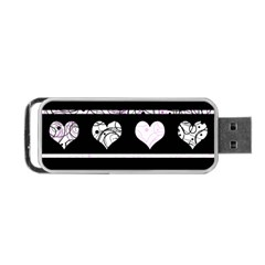Elegant harts pattern Portable USB Flash (Two Sides) by Valentinaart