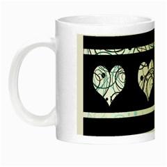 Elegant Harts Pattern Night Luminous Mugs by Valentinaart
