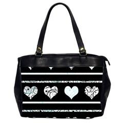 Elegant Harts Pattern Office Handbags (2 Sides)  by Valentinaart
