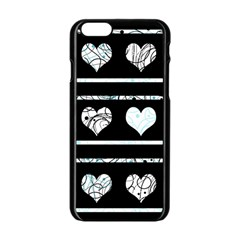 Elegant Harts Pattern Apple Iphone 6/6s Black Enamel Case by Valentinaart