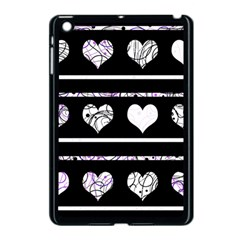 Elegant Harts Pattern Apple Ipad Mini Case (black) by Valentinaart