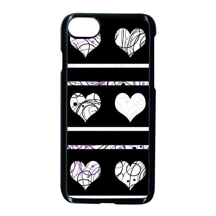 Elegant harts pattern Apple iPhone 7 Seamless Case (Black)