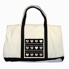 Elegant Harts Pattern Two Tone Tote Bag by Valentinaart