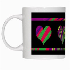 Colorful Harts Pattern White Mugs by Valentinaart