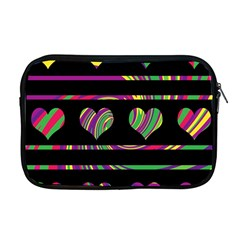 Colorful Harts Pattern Apple Macbook Pro 17  Zipper Case by Valentinaart