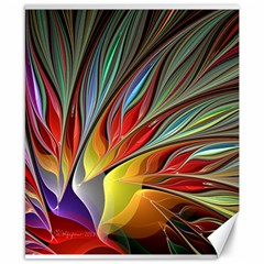 Fractal Bird Of Paradise Canvas 8  X 10  by WolfepawFractals