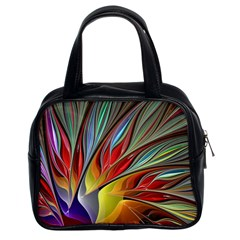 Fractal Bird Of Paradise Classic Handbag (two Sides) by WolfepawFractals