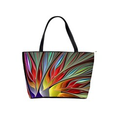 Fractal Bird Of Paradise Classic Shoulder Handbag by WolfepawFractals
