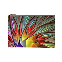 Fractal Bird Of Paradise Cosmetic Bag (large) by WolfepawFractals