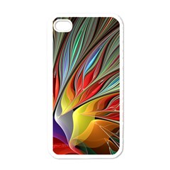 Fractal Bird Of Paradise Apple Iphone 4 Case (white) by WolfepawFractals