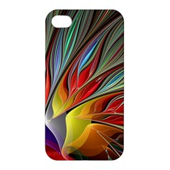 Fractal Bird Of Paradise Apple Iphone 4/4s Hardshell Case by WolfepawFractals