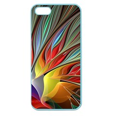 Fractal Bird Of Paradise Apple Seamless Iphone 5 Case (color) by WolfepawFractals