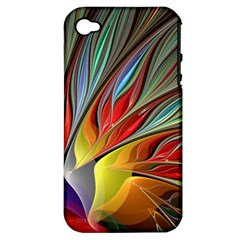 Fractal Bird Of Paradise Apple Iphone 4/4s Hardshell Case (pc+silicone) by WolfepawFractals