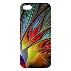 Fractal Bird Of Paradise Apple Iphone 5 Premium Hardshell Case by WolfepawFractals