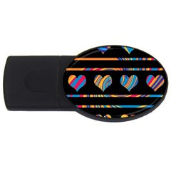 Colorful Harts Pattern Usb Flash Drive Oval (2 Gb)  by Valentinaart