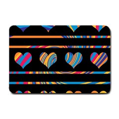 Colorful Harts Pattern Small Doormat  by Valentinaart