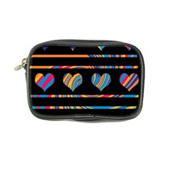 Colorful Harts Pattern Coin Purse by Valentinaart