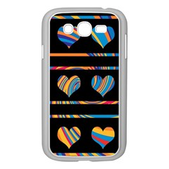 Colorful Harts Pattern Samsung Galaxy Grand Duos I9082 Case (white) by Valentinaart