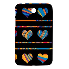 Colorful Harts Pattern Samsung Galaxy Tab 3 (7 ) P3200 Hardshell Case  by Valentinaart