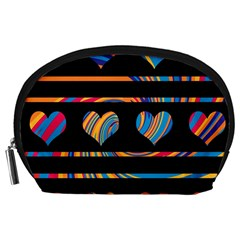 Colorful Harts Pattern Accessory Pouches (large)  by Valentinaart