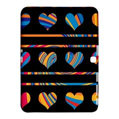 Colorful harts pattern Samsung Galaxy Tab 4 (10.1 ) Hardshell Case  by Valentinaart