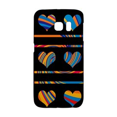 Colorful Harts Pattern Galaxy S6 Edge by Valentinaart