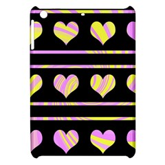 Pink And Yellow Harts Pattern Apple Ipad Mini Hardshell Case by Valentinaart