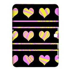 Pink And Yellow Harts Pattern Samsung Galaxy Tab 4 (10 1 ) Hardshell Case  by Valentinaart