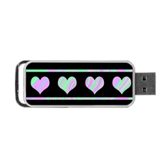 Pastel Harts Pattern Portable Usb Flash (two Sides) by Valentinaart