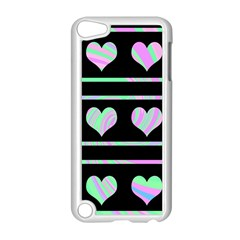 Pastel Harts Pattern Apple Ipod Touch 5 Case (white) by Valentinaart