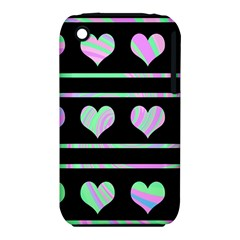 Pastel Harts Pattern Iphone 3s/3gs by Valentinaart