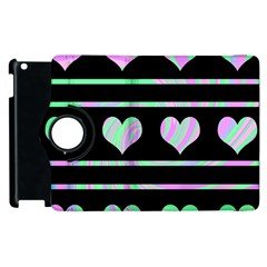 Pastel Harts Pattern Apple Ipad 2 Flip 360 Case by Valentinaart