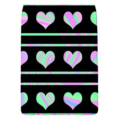 Pastel Harts Pattern Flap Covers (s)  by Valentinaart