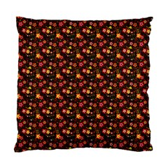 Exotic Colorful Flower Pattern Standard Cushion Case (two Sides) by Brittlevirginclothing