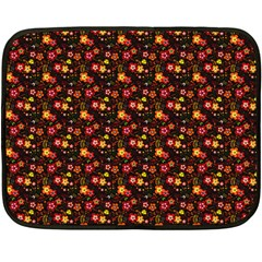 Exotic Colorful Flower Pattern Double Sided Fleece Blanket (mini)  by Brittlevirginclothing