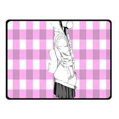 Cute Anime Girl Fleece Blanket (small) by Brittlevirginclothing