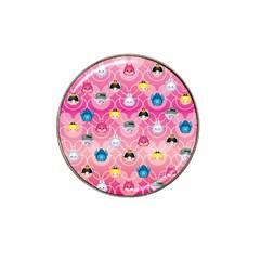 Alice In Wonderland Hat Clip Ball Marker (4 Pack) by reddyedesign