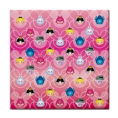 Alice In Wonderland Face Towel by reddyedesign