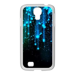 Abstract Stars Falling  Samsung Galaxy S4 I9500/ I9505 Case (white) by Brittlevirginclothing