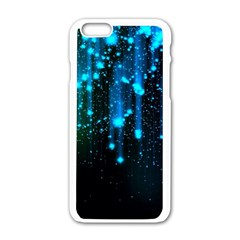 Abstract Stars Falling  Apple Iphone 6/6s White Enamel Case by Brittlevirginclothing