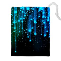 Abstract Stars Falling  Drawstring Pouches (xxl) by Brittlevirginclothing