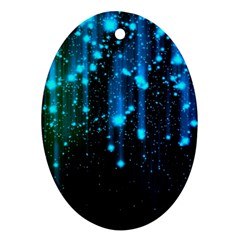Abstract Stars Falling Ornament (oval)  by Brittlevirginclothing