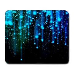 Abstract Stars Falling Large Mousepads by Brittlevirginclothing