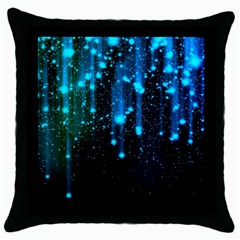 Abstract Stars Falling Throw Pillow Case (black) by Brittlevirginclothing