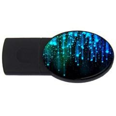 Abstract Stars Falling USB Flash Drive Oval (1 GB)